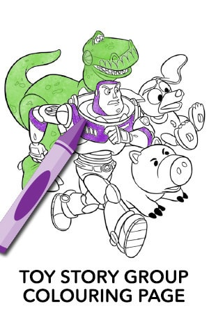 Toy Story - Group Coloring Page