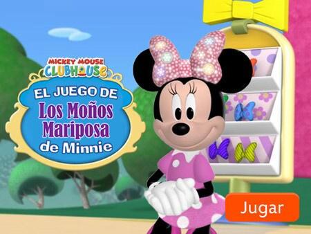 El juego de Los Moños Mariposa de Minnie