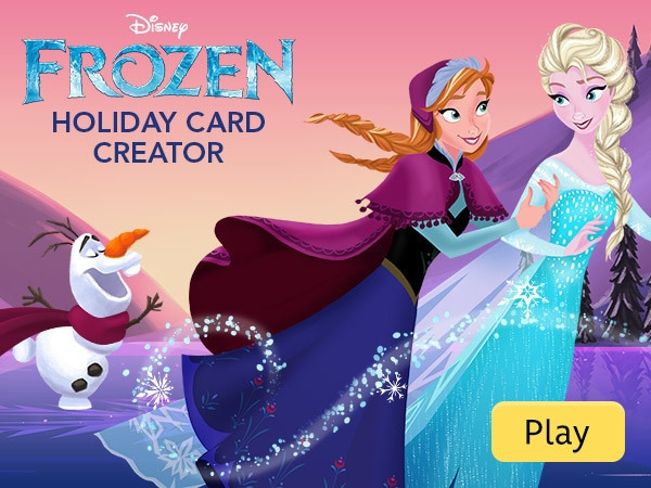Frozen Holiday Card Creator