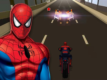 Marvel ultimate spider man spider moto ultime jeux - Jeux spiderman moto ...