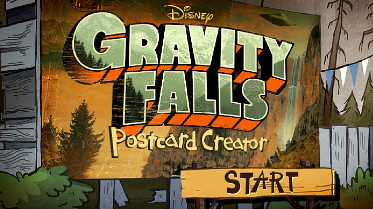 Gravity Falls Postcard Creator Disney Lol