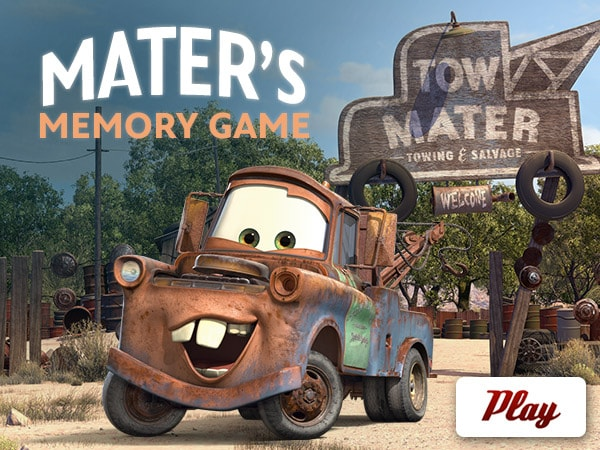Cars 2  Maters Memory Game  Disney LOL