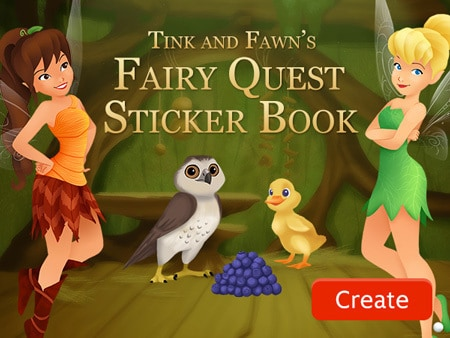 Tink and Fawn's Fairy Quest Sticker Book