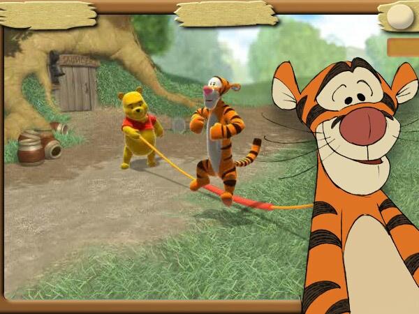 Tigrou saute à la corde