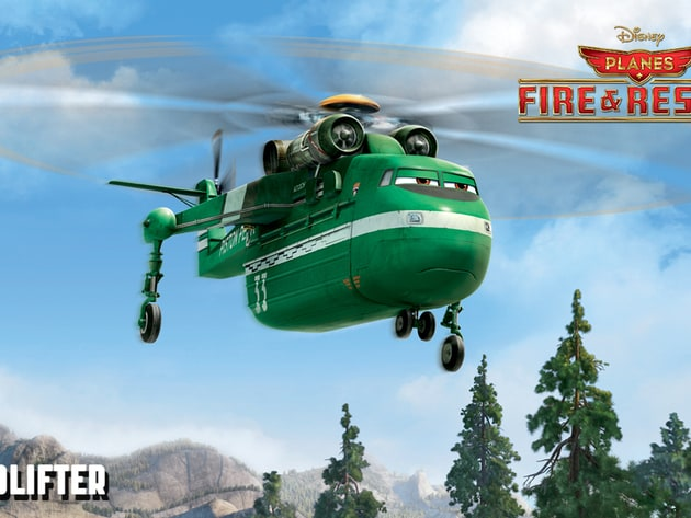 Windlifter (voice of Wes Studi) is a heavy-lift helicopter who can hoist dozens of trees or a hug...