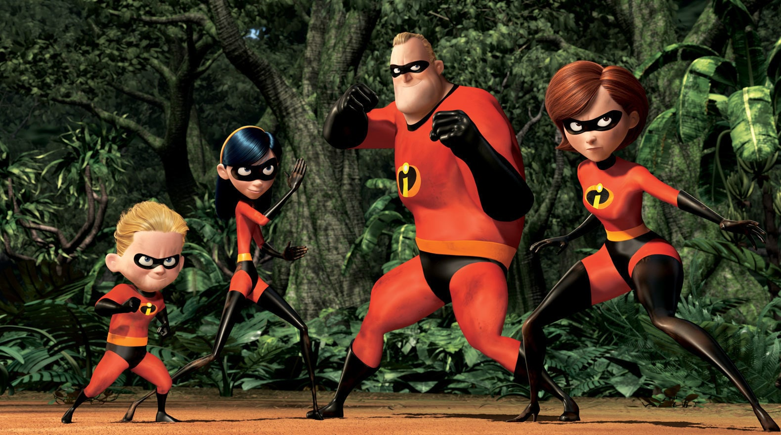 """The family confronts Syndrome in """"The Incredibles"""""""