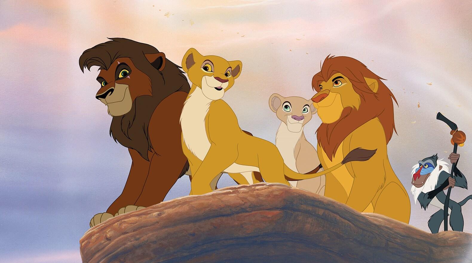 Nala, Simba, Kovu and Kiara spend time with Rafiki and look out over the pride.