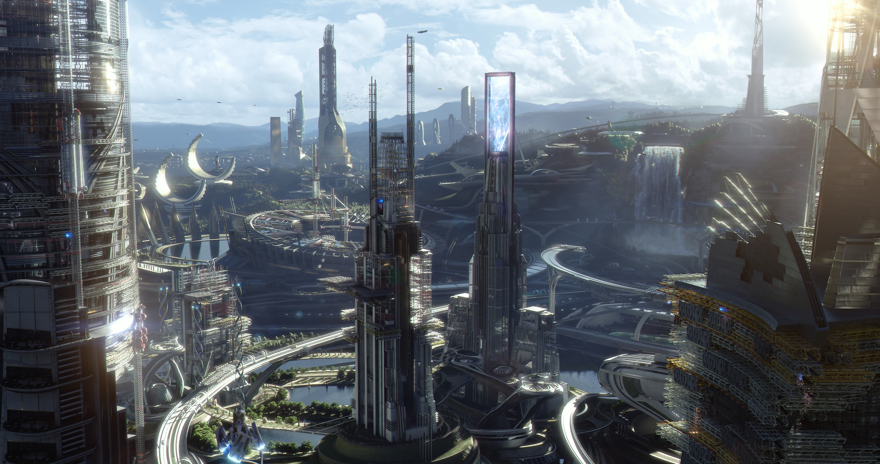 """Image of Tomorrowland from the movie """"Tomorrowland"""""""
