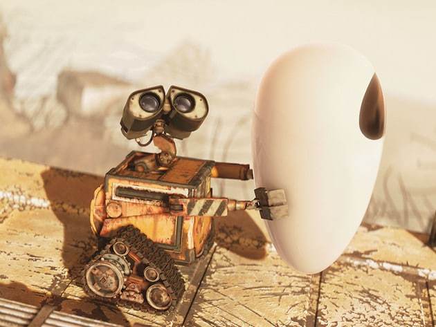 WALL•E holds on to the things he loves.