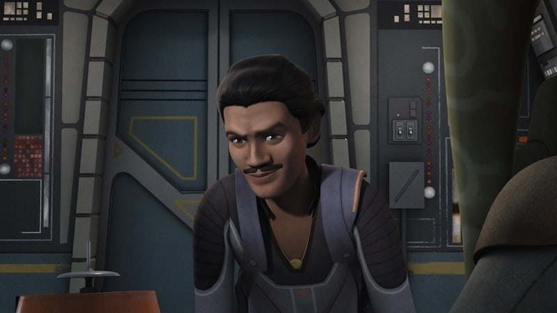 "Lando Calrissian as depicted in ""Star Wars: Rebels"""