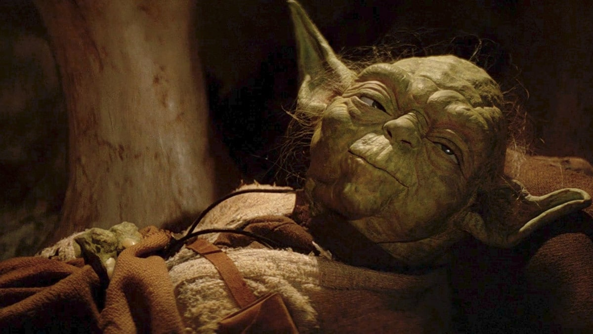 Yoda resting in his home before becoming one with the Force