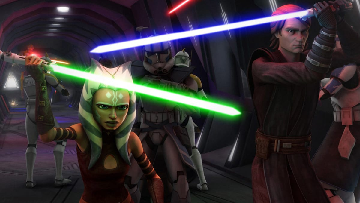 Ahsoka Tano and Anakin Skywalker