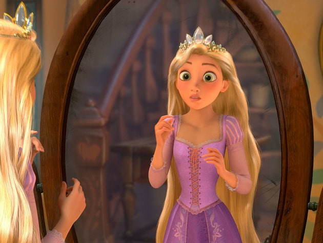Rapunzel has always wondered what it would be like to wear a crown.