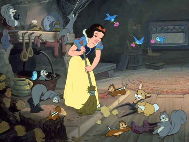 Snow White makes anything more fun, even household chores.