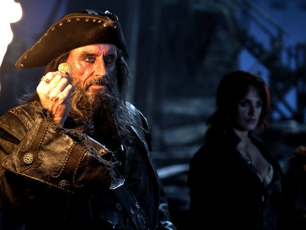 Blackbeard takes charge of his ship, the Queen Anne's Revenge.