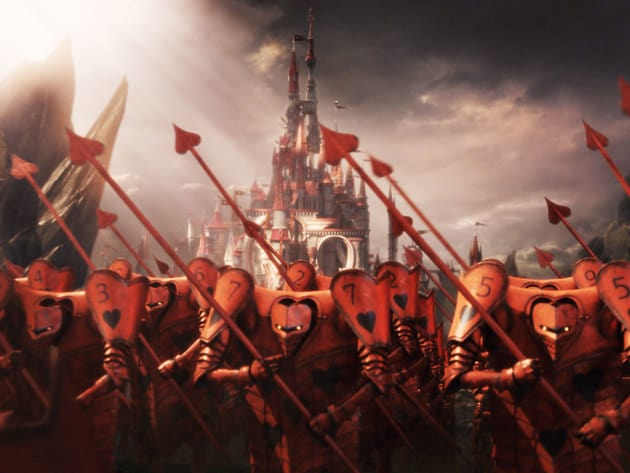 The Red Queen's forces advance at the gates of the White Queen's castle.