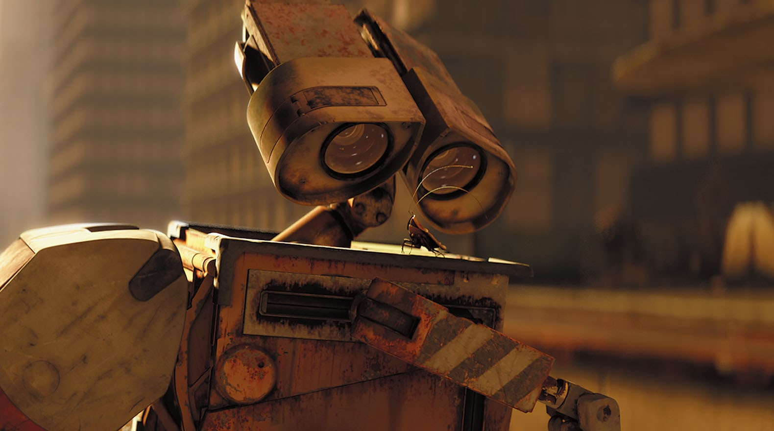 """Wall-E at his daily job from the movie """"Wall-E"""""""