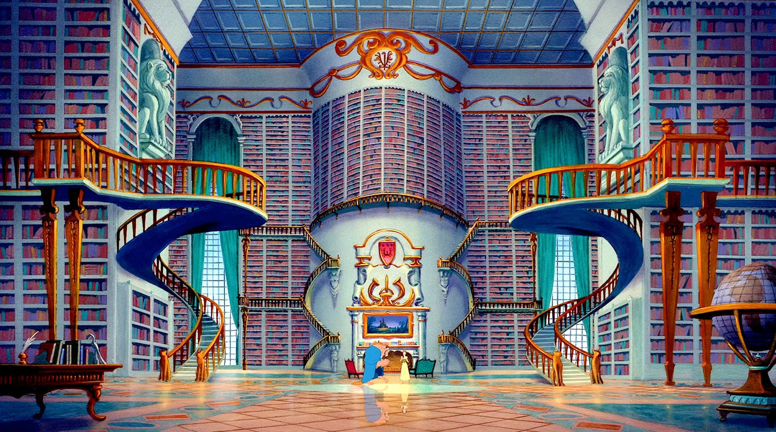 Beast knows the best gift to give Belle is a room full of books.