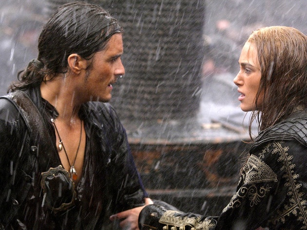 The star-crossed lovers unite in the midst of a shipboard battle.
