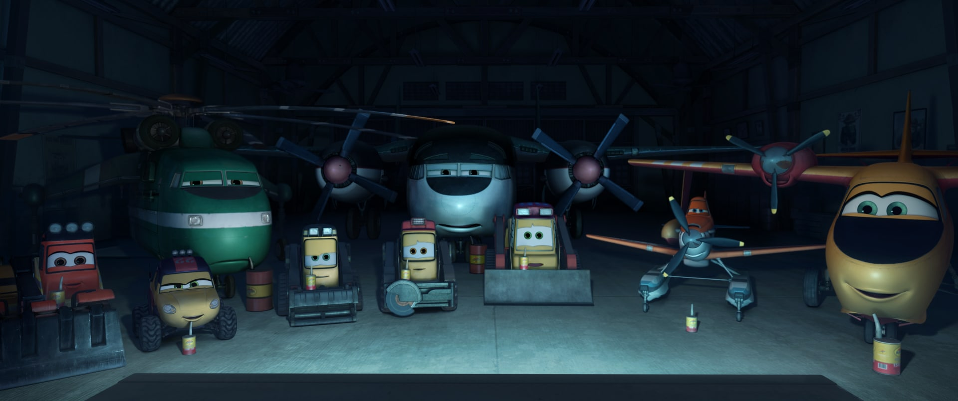 """Characters from the movie """"Planes: Fire & Rescue"""""""
