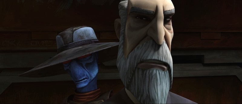 Cad Bane discussing a job with Count Dooku