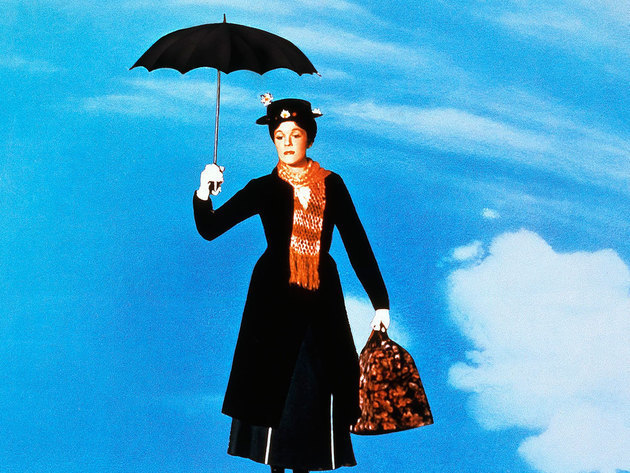 Mary Poppins flies off on her umbrella, to help another family.