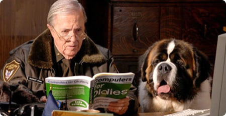 The Ranger and Bernie catch up on some light reading.