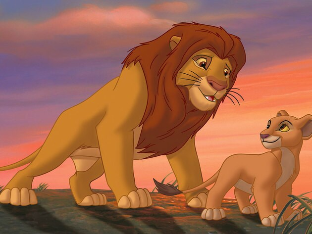 Simba spends time with his daughter, just as his father spent time with him.