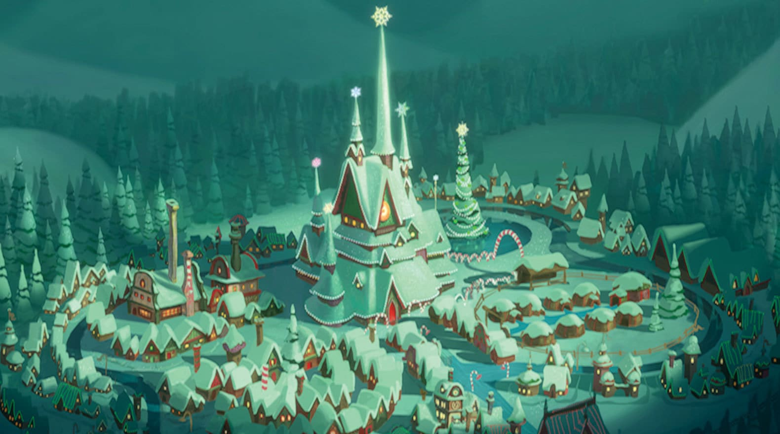 The legendary north pole is home to Mr. And Mrs. Claus, as well as all of Santa's elves and reind...