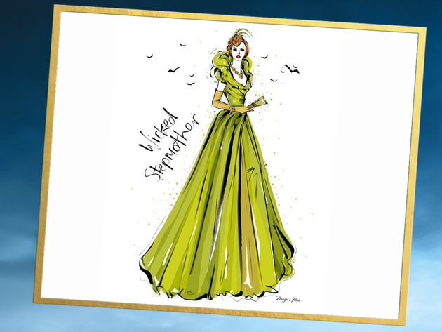 Dramatic, beautiful and wicked! Check out this sketch of The Wicked Stepmother by talented fashio...