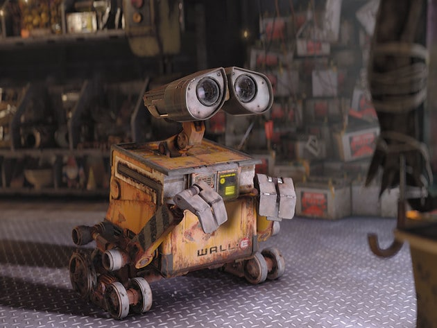 WALL•E learns about humans and emotions by watching an old film.