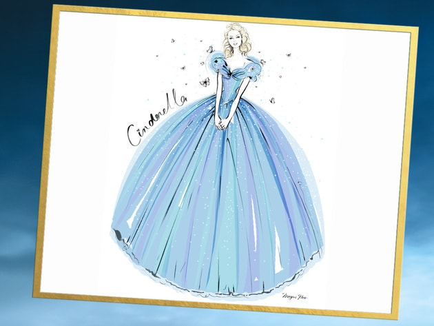 Renowned fashion illustrator Megan Hess brings one of the most iconic Cinderella costumes to life...