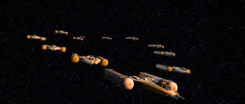 Y-Wing bombers during The Clone Wars