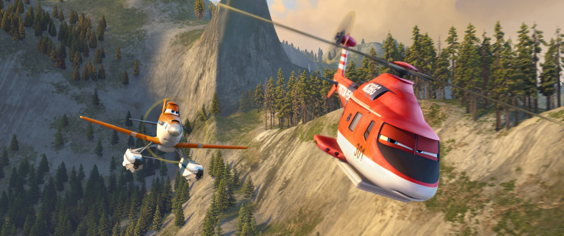 """Dusty and Blade Runner on a mission in """"Planes: Fire & Rescue"""""""