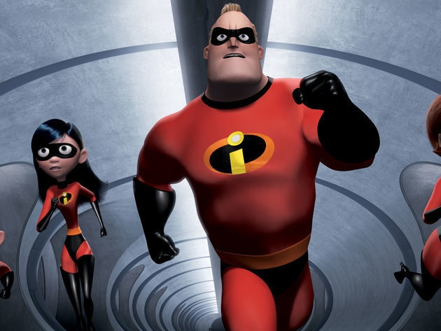 The Incredibles are on their way to confront Syndrome and the Omnidroid.