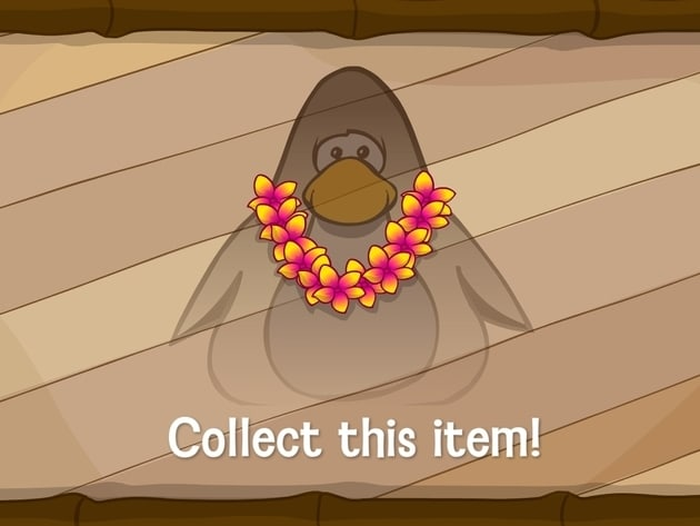 Everyone can collect cool new beach items for their penguins… like this flower lei, a ukulele and...