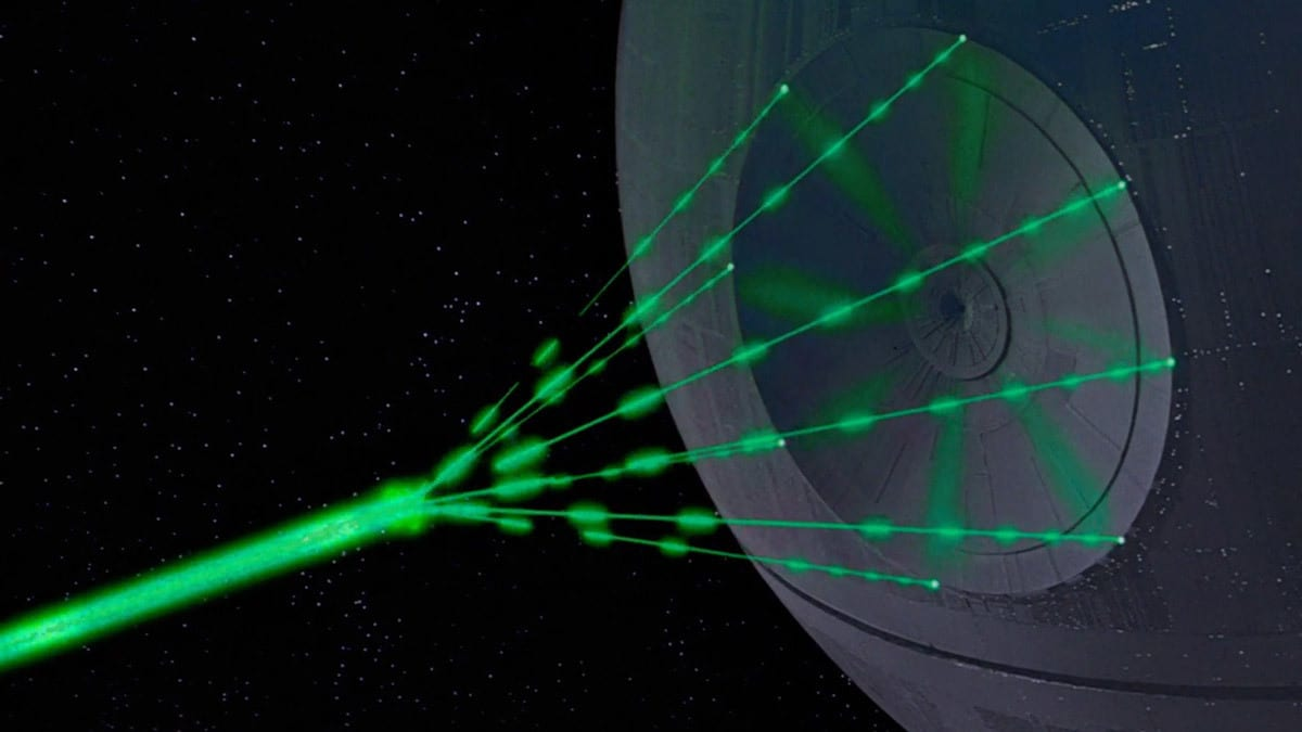The Death Star firing its Superlaser