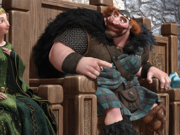 Merida, her mom and dad, and her three brothers make up Clan DunBroch.