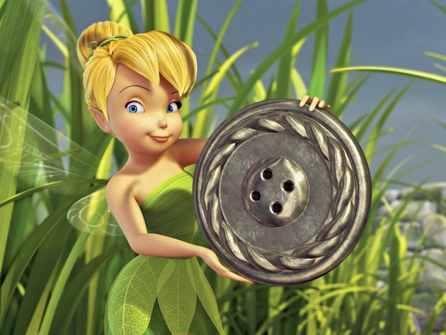 Tinker Bell stumbles across a path of buttons when out exploring.