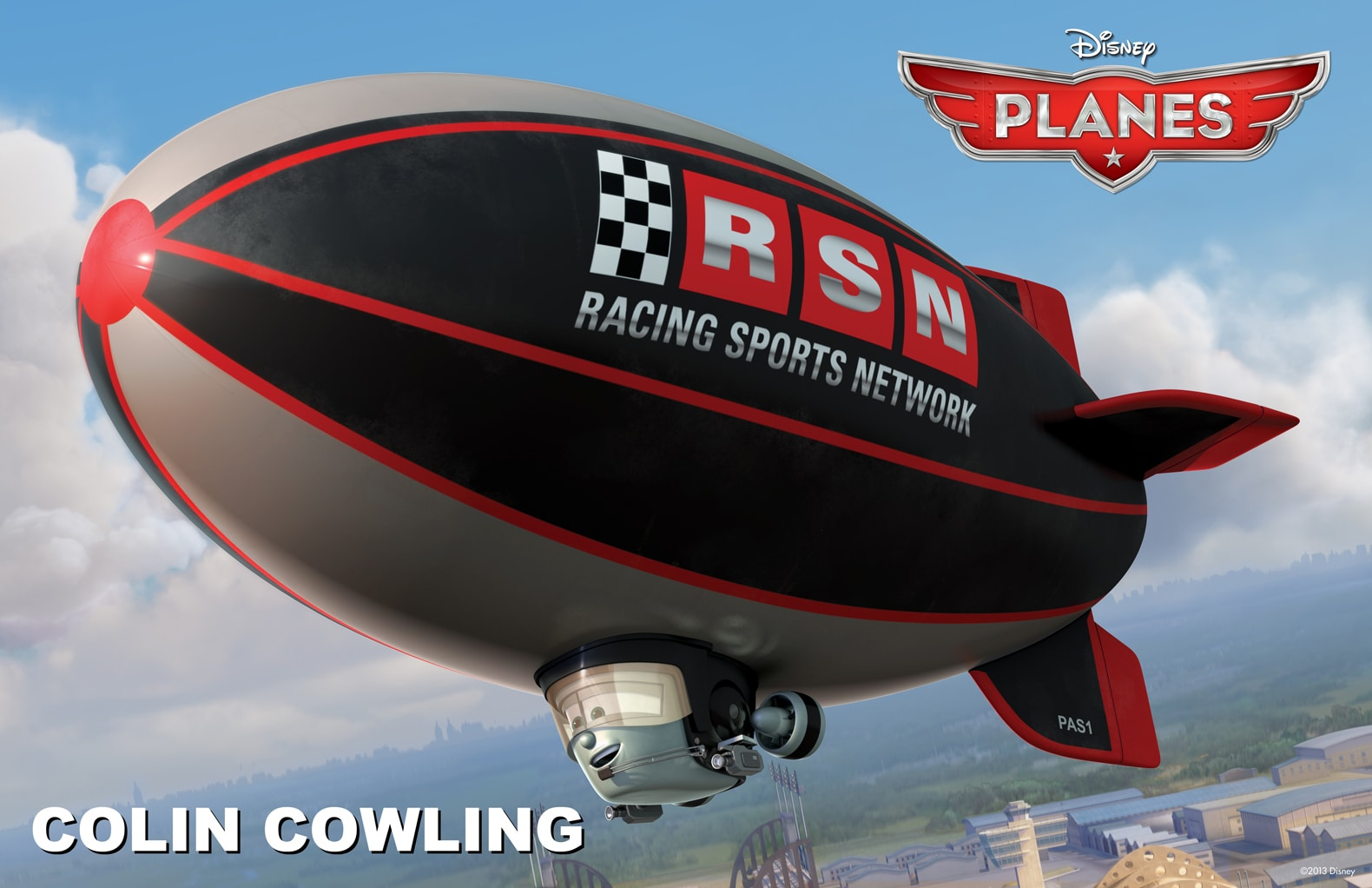 """Colin Cowling the blimp from the movie """"Planes"""""""