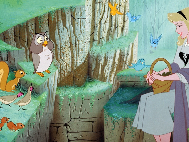 The animals are very good company for Briar Rose.