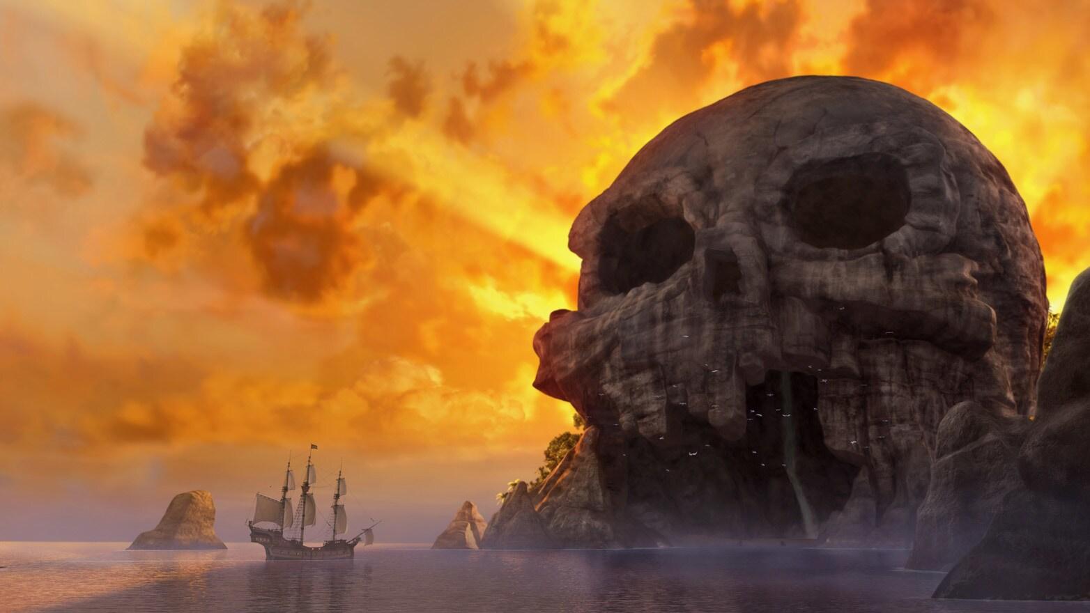 The iconic landmark in Neverland.
