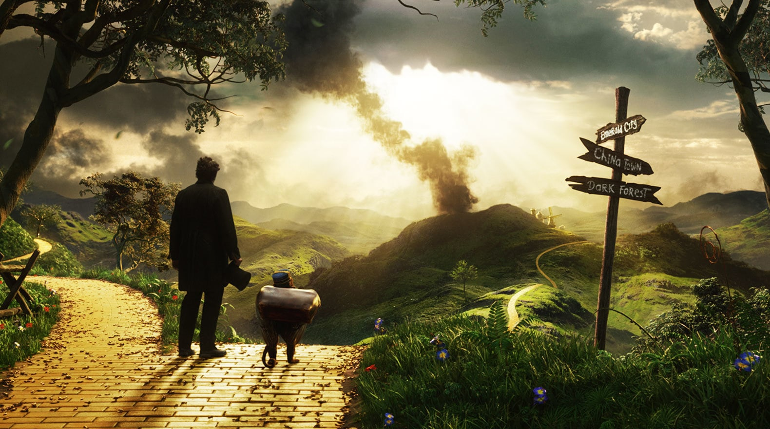 """Zach Braff and James Franco in """"Oz The Great and Powerful"""""""