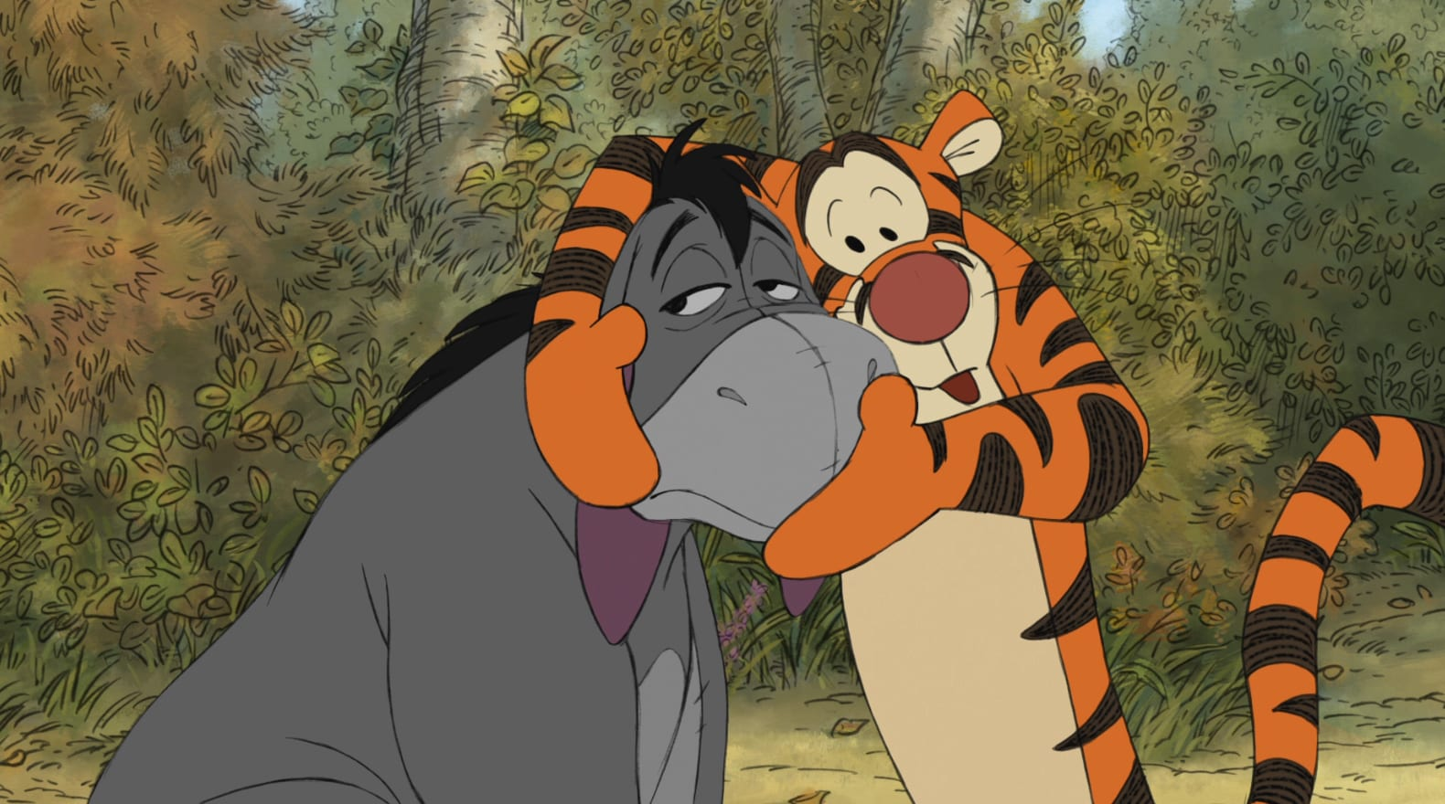 Tigger knows how to turn a frown upside down!