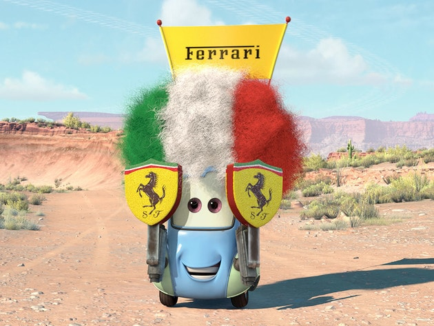 Guido is a little car, but a big Ferrari fan.
