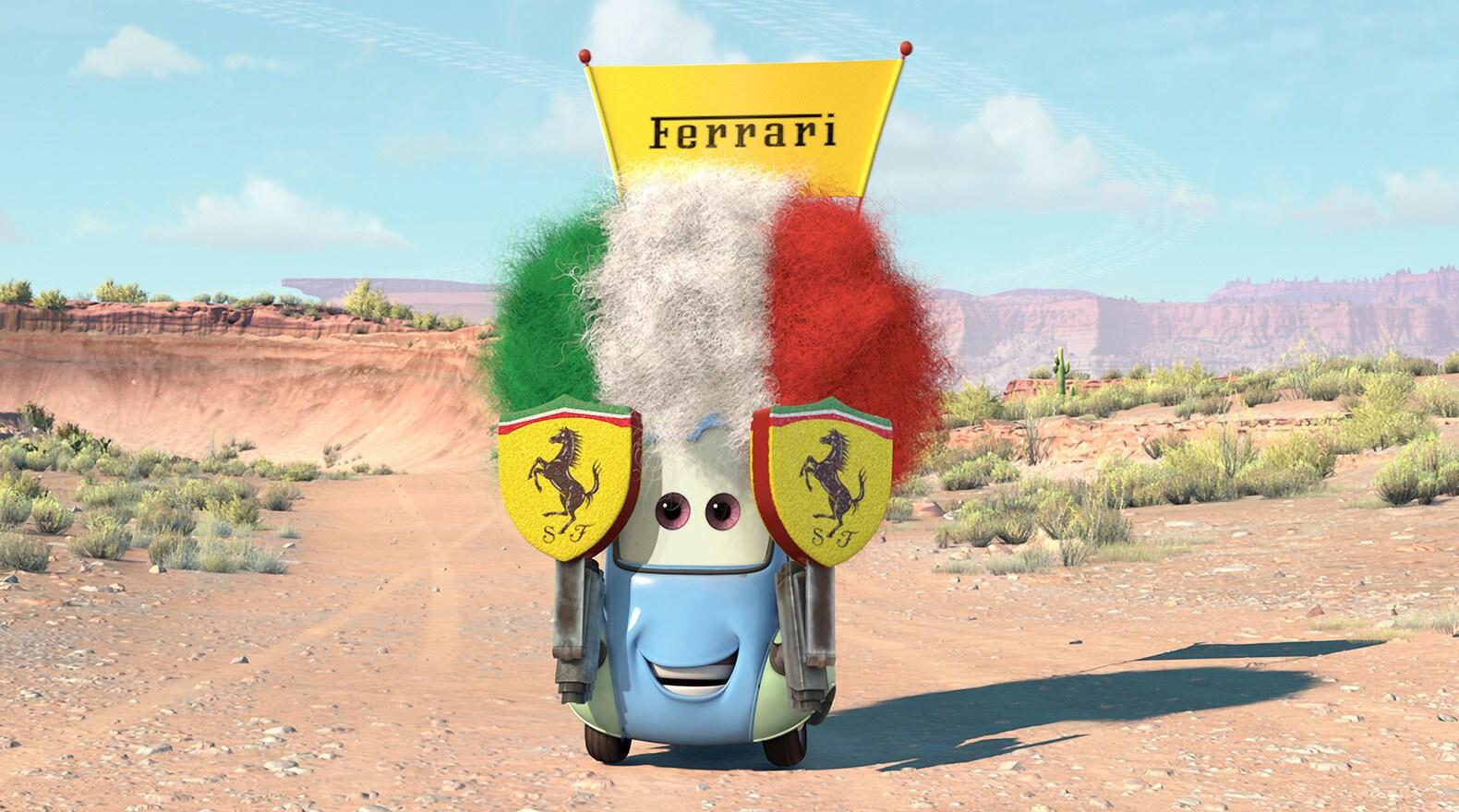 Guido is a little car, but a big Ferrari fan.
