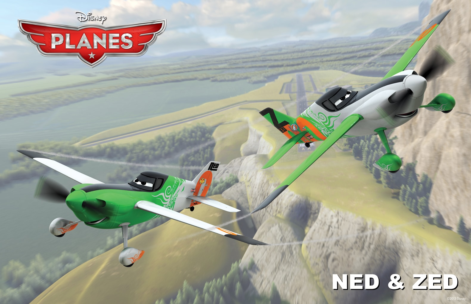 """Team Ripslinger's bombastic racers Ned and Zed specialize in sabotage. From the movie """"Planes"""""""