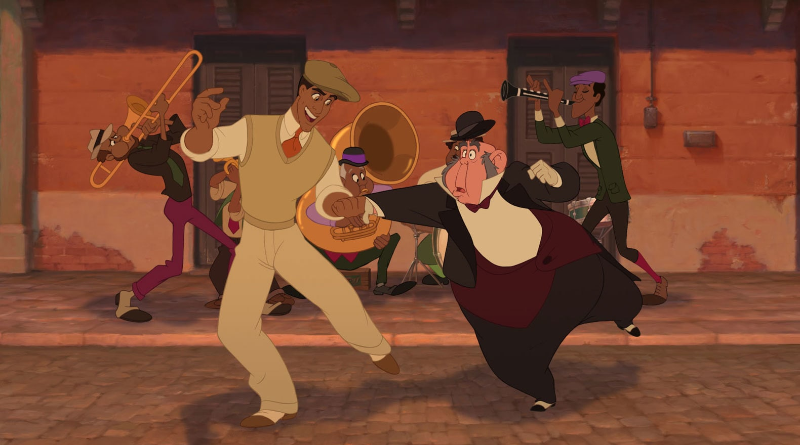 Prince Naveen and Larence dance up a storm.