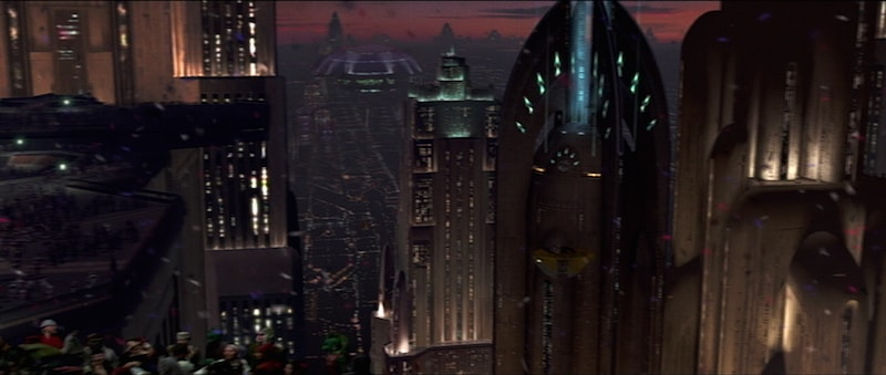 Coruscant during the time of the Galactic Empire
