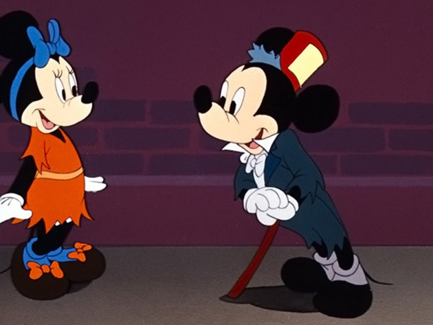 Mickey and Minnie get all dressed up for a night on the town.